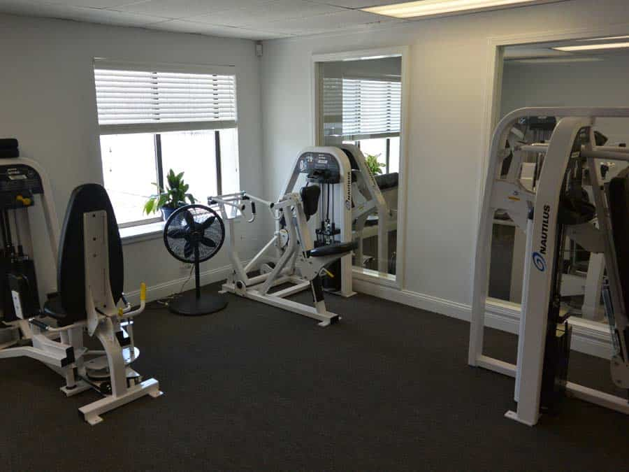 weight training machines in a private fitness studio in greenwich connecticut