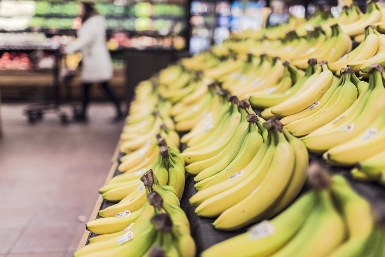 Bananas from grocery store near Loyalty Fitness for nutrition during COVID